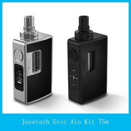 Wholesale 100 Original Joyetech eVic Aio Kit W All In One VT Starter Kit Anti leaking Structure With Top Refilling and Top Airflow Control System