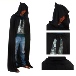 Wholesale Halloween Costume Devils Party Dress Black M inch Elastic Knitted Fabric Death Cloak Adult Designs Drop Shipping Product Code