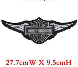 Wholesale embroidery badge motor rider middle patch iron on jacket back dress decoration accept customized