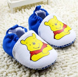 Baby first walkers shoes baby sport shoes cotton shoes cartoon bear shoes color white size 11-13cm 2016 kids shoes children shoes.2824