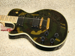 Left handed guitar Green camouflage Electric Guitar left handed guitar Free Shipping