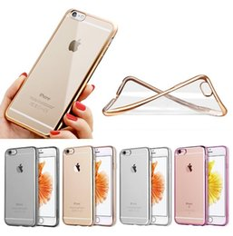 Newest For Apple iPhone 6 6s Case Luxury Ultra-thin Electroplated Transparent TPU Mobile Phone Case