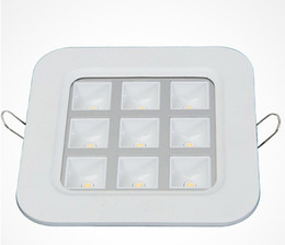 40pcs lot Wholesale price Dimmable 9W White shell Recessed LED Grille Lamp for kitchen bathroom Down lights AC85-265V
