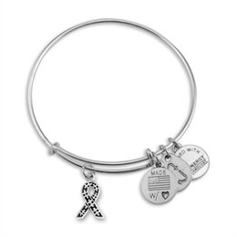 Wholesale Alex and Ani Awareness Styles Ribbons Adjustable statement bracelets Silver Charms Wiring Expandable Pendant Bangles Band Cuffs