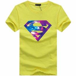 Wholesale Cheap Fashion Men s Summer Short sleeve Sports T shirts Casual Unique Superman Batman S Tops Tee Plus Size XL Cool T Shirt