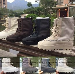 Wholesale Boost Boots Kanye West Peyote Moon Rock Pirate Black Women and Men Boosts Duck Boost High Top Height Increasing Sport Running shoes