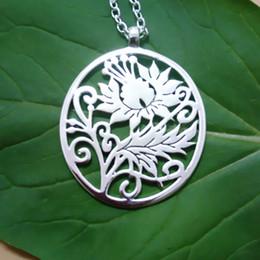 Statement eco Necklace Custom Order botanical floral spoon pendant Jacobean Scottish Thistle Art Spoon long chain pendant
