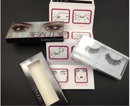 Wholesale 2016 New HUDA BEAUTY False Eyelashes Natural Long Messy Cross Thick False Eye Lashes Huda Beauty Makeup DHL