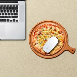 Good picture game mouse pad with pizza and egg food pattern