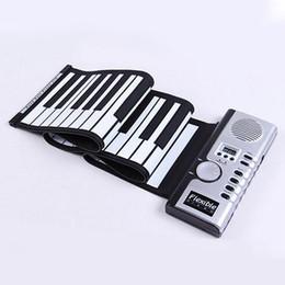 Mano flexible del sintetizador rueda para arriba Roll-Up USB El teclado electrónico portable suave del piano 61 llaves MIDI construye en altavoz con CE que envía libremente desde enrollar 61 teclas proveedores
