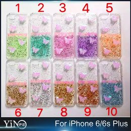 Wholesale Air Cushion Drop Resistance Colors Colourful Butterfly Glue Soft TPU Transparent Case Cover For iPhone s Plus