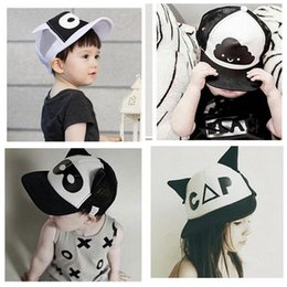 Wholesale Baby INS caps hats Snapback Baseball Hat children Fashion Cartoon Batman ins clouds mask Sports Hat Hip Hop cap design KKA311
