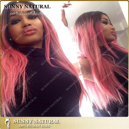 Pink Ombre Lace Front Human Hair Wigs Loose Curl Wigs Glueless Human Hair Brazilian Hair Loose Wave Wig