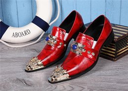 Wholesale British style luxury leather red wedding party men s leather shoes men don t fasten the collar buttons of Oxford man apartment size