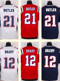 Wholesale 2016 New Men s Malcolm Butler Tom Brady Red White Blue Top Quality jerseys Drop Shipping