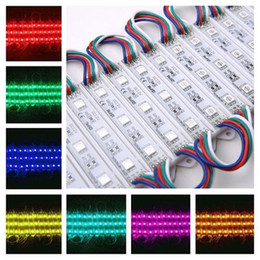 Wholesale 20pcs String LED SMD LED Module RGB Waterproof Light Lamp Strip DC V Advertise Module Light
