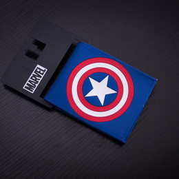 Wholesale Comics DC Marvel Popular Animation Wallet for Men Captain America PU Leather Gift Wallets Casual Purse PVC Bags Dollar Price Creative Gift