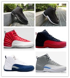 hot AIR Retro 12 Wool Black Grey FLU game TAXI French blue gym red wolf Grey Playoff Gamma Blue GS Barons sale