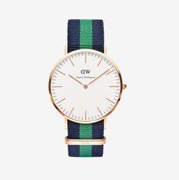 Wholesale HOT Sale Daniel wellington Womens Mens double needle color nylon DW watch rose gold DW thin nylon quartz Wristwatches IN STOCK