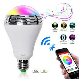 Wholesale K001 Laviki Bluetooth Smart LED Light Bulb Speaker Dimmable Multicolored Color Changing LED Bedside Desk Lights Bar Sinks Smartphone Con