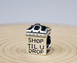 Promotion boutiques de charme 6 * 8 * 11mm Bracelets européens 925 Argent Shop Design Charms Perles Fit pour 2016 Fashion Style AMOUR Pendentif Charm bricolage
