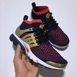 Wholesale Autumn Breather Shoes King Air Presto Flykint Ultra Boost Couple Running shoes medium top sneakers classic