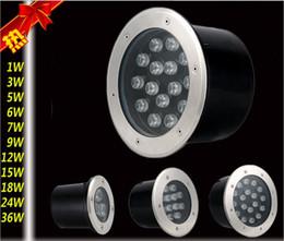 Wholesale 3W Highlight LED aluminum alloy Underground Lamps floor lamp floor tile lamp