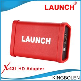 Wholesale 2016 Newest LAUNCH X431 HD Heavy Duty Truck Diagnostic Adapter Work for X431 V X431 Pro3 pad ii Software Free Update Online GDS function