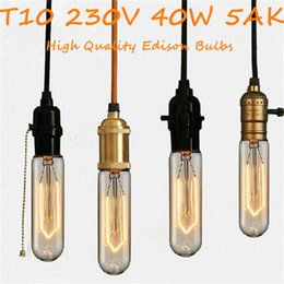 Wholesale Antique Vintage Retro Edison Light Bulbs E27 T10 AK T45 AK V W Light Tungsten Bulbs for Chandelies Pendant Lamp