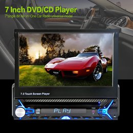 Wholesale 2016 Sale New Car Radio Stereo Player Bluetooth Phone AUX IN MP3 MP4 FM USB Din remote control For Iphone V Car Audio Auto