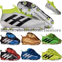 Wholesale 2016 New Youth Soccer Cleats Ace purecontrol soccer boots Pure Control Football Shoes Kids boys Soccer shoes Mens Womens Original Cleats