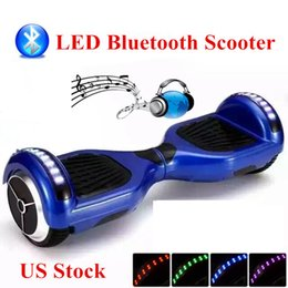 US Stock LED Bluetooth Hoverboard Smart Balance Scooter Electric Scooter 6.5 Inch Smart Balance Wheel LED Light Bluetooth Self Balancing