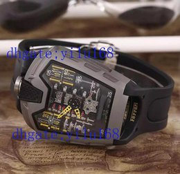 Wholesale Top Quality Men s Huang Pin MP LaFerrari gray dial Power For Days MOVEMENT TECHNICAL DETAILS Automatic Save Men s Sport WristWatches