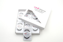 Wholesale 120 Pairs Free DHL False Eyelashes Human Hair Eye lashes Red Cherry Makeup Beauty Wholsale