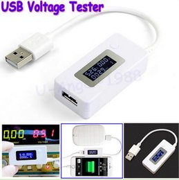 Wholesale KCX LCD Digital Voltmeter USB Charger Power Bank Tester Meter Dispay Voltage Current Voltimetro and USB discharge load resistor