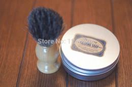 Wholesale 2pc set Badger Shaving Brush amp Shaving Soap Cream of Natural Raw Materials with Goat s Milk Honey amp Sheep oil Shaving Cream