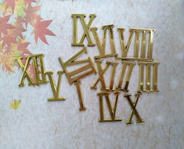 Wholesale 20PCS 3CM Gold Color Clock Roman Numbers for DIY Quartz Clock Repair Accessories Free Shipping