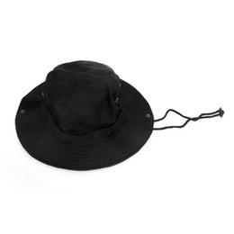 Promotion cap arrondi pour les hommes Vente en gros NEW-Outdoor Hommes Femmes Unisexe Chapeau pour Pêche Trekking Camping Randonnée Sport Sun Cap Round Rim Hat (Noir)