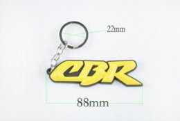 Wholesale CBR RR Yellow Keychain Key Ring Fob Logo Decal Motorcycle Cheap ring monkey