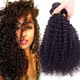 Indian Deep Curly Hair Extension 6A Indian Human Hair Weave 100% Unprocessed Bundles Indian Deep Curly 2pcs lot hair weft Natural Color