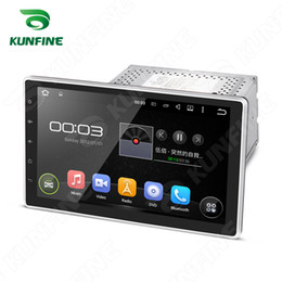Wholesale Universal quot Quad Core HD Screen Android Car DVD GPS Navigation Player with Wifi Bluetooth steering wheel control Remote
