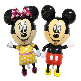 Wholesale New Meters Super Sized Mickey Mouse Cartoon Animal Aluminium Mickey Minnie Foil Balloons Birthday Party Supplies Wedding Balloon