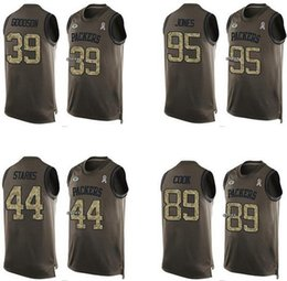 Wholesale Men s James Starks James Jones Demetri Goodson Datone Jones Green Bay Olive Salute To Service Jerseys