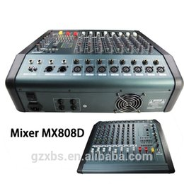 Wholesale Portable Channel Mic Line Audio Mixer PMX808D Mixing Console band EQ USB Interface V Phantom Power with Power Adapter