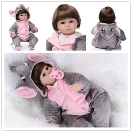 Wholesale Real pictures Grey Elephant Pajamas CM inches Newborn babies bonecas lifelike reborn baby alive Doll Birthday Christmas toys for girls