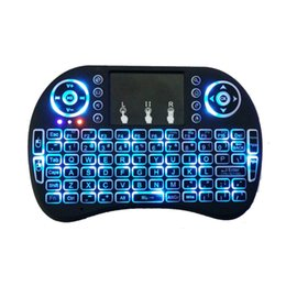 Wholesale Rii mini i8 Keyboard Backlight G Wireless Touchpad mouse Backlit Backlight for HTPC Laptop Tablet MXQ M8S Mini PC