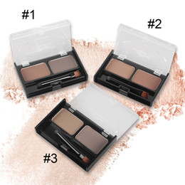Popfeel Eyebrow Kit Double Color Eyebrow Powder with Brush Soft Charm Eyebrow Powder Waterproof NO Blooming WITH GIFT 2801025