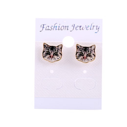 2016 Fashion New Designed High Quality express Animal for Women with a Black Cat Earrings Gift, girlfriend, best Gift