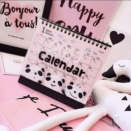 Wholesale quot Hi Panda quot Table Desk Calendar Cute Kawaii Lovely Scheduler Agenda Monthly Planner Diary Checklist Memo Notebook To Do List Gift