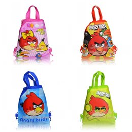 Wholesale Hot Sale Bird Cartoon Handbags Kids Gifts Drawstring Backpack Bag kids school backpacks Children Bags Non woven CM Size